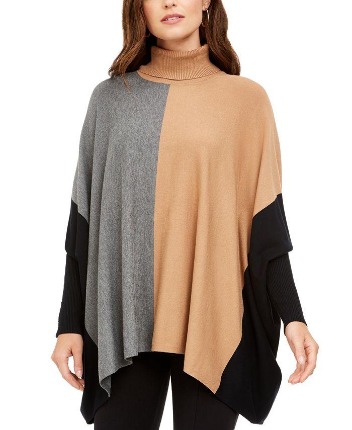 Alfani - Turtleneck Poncho Sweater