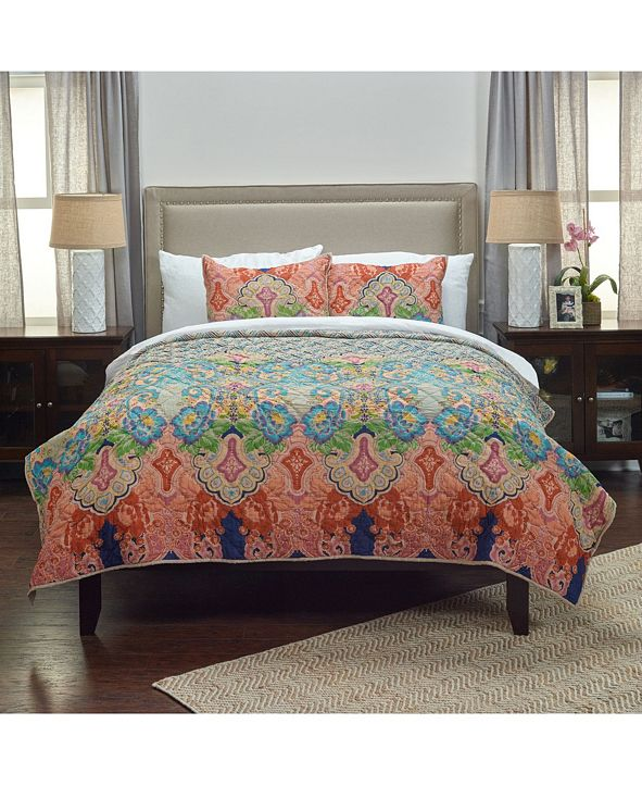 Rizzy Home Riztex USA Rhapsodille Queen Quilt