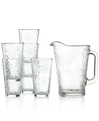 The Cellar Glassware, 7 Piece Frosted Iced Beverage Set