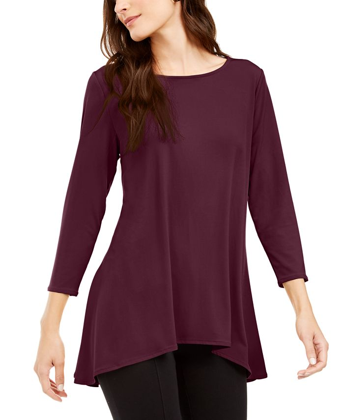 Alfani - High-Low Jersey Tunic Top