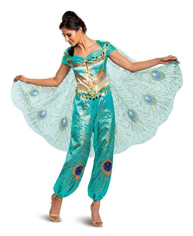 BuySeasons Women's Aladdin: Jasmine Teal Deluxe Adult Costume