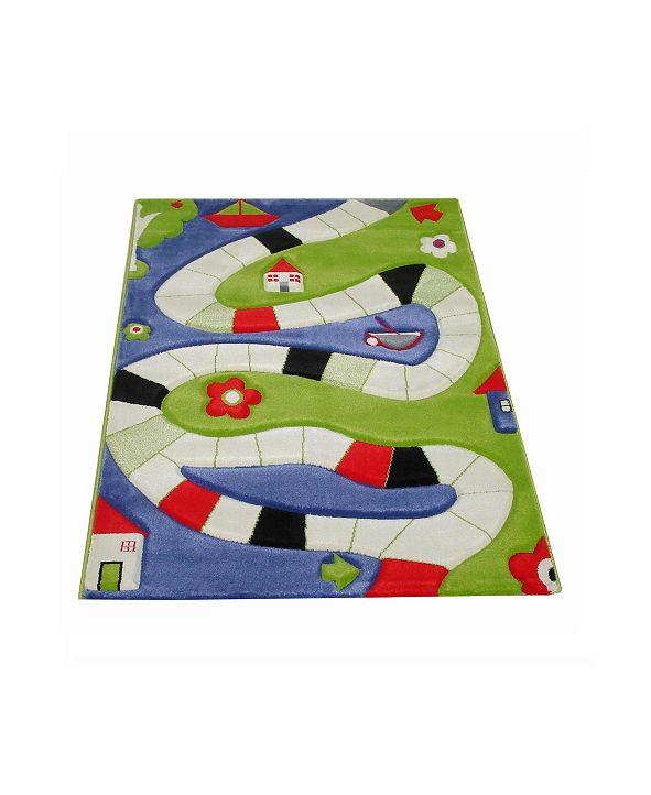 "IVI Playway Soft Nursery Rug with a Playful Design - 59""L x 39""W"