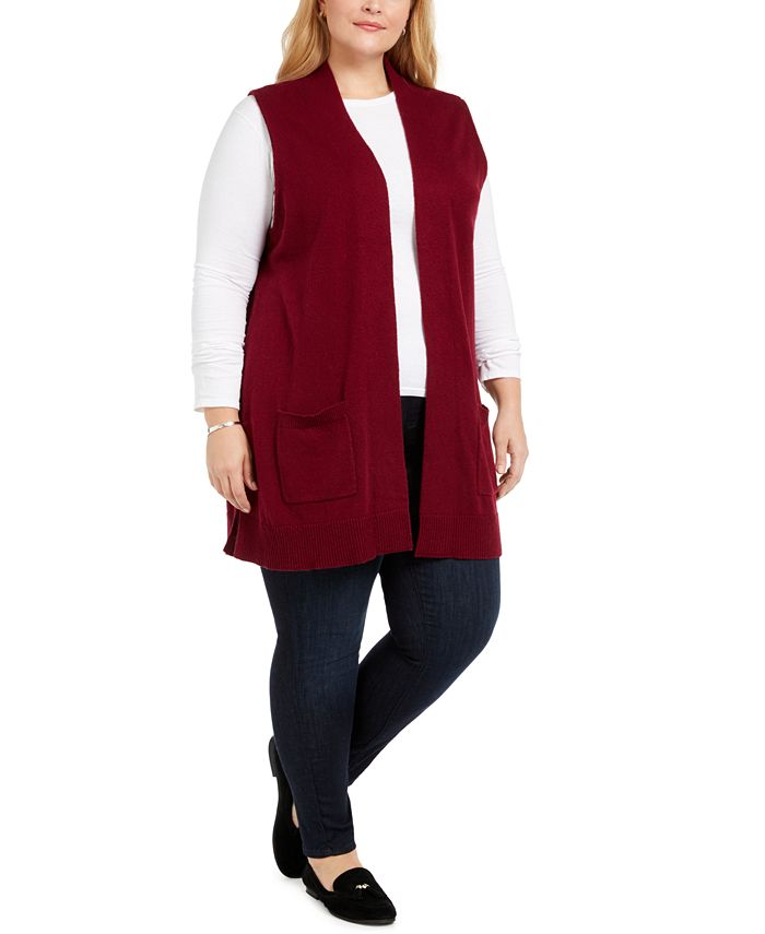 Karen Scott - Plus Size Duster Vest