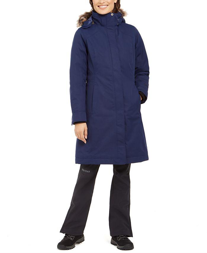 Marmot - Chelsea Hooded Faux-Fur-Trim Coat