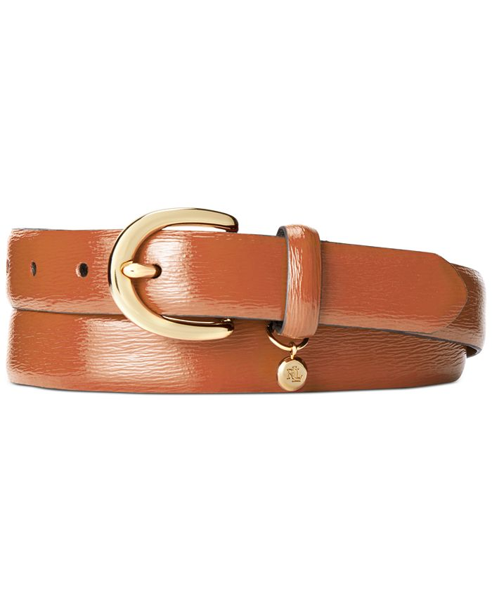 Lauren Ralph Lauren - Classic Saffiano Leather Belt with Charm