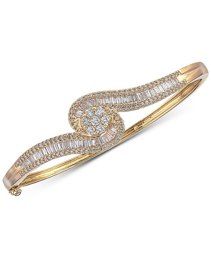 Macy's - Diamond Bangle Bracelet (2 ct. t.w.) in 14k Gold