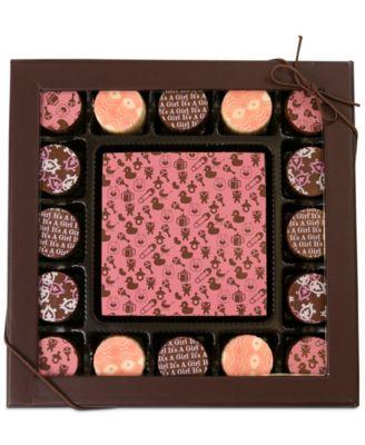 17-Pc. Baby Girl Gourmet Chocolate Truffles