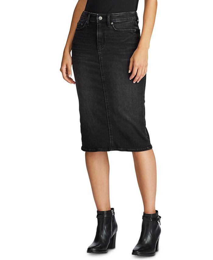 Lauren Ralph Lauren - Curvy-Sculpted Denim Skirt