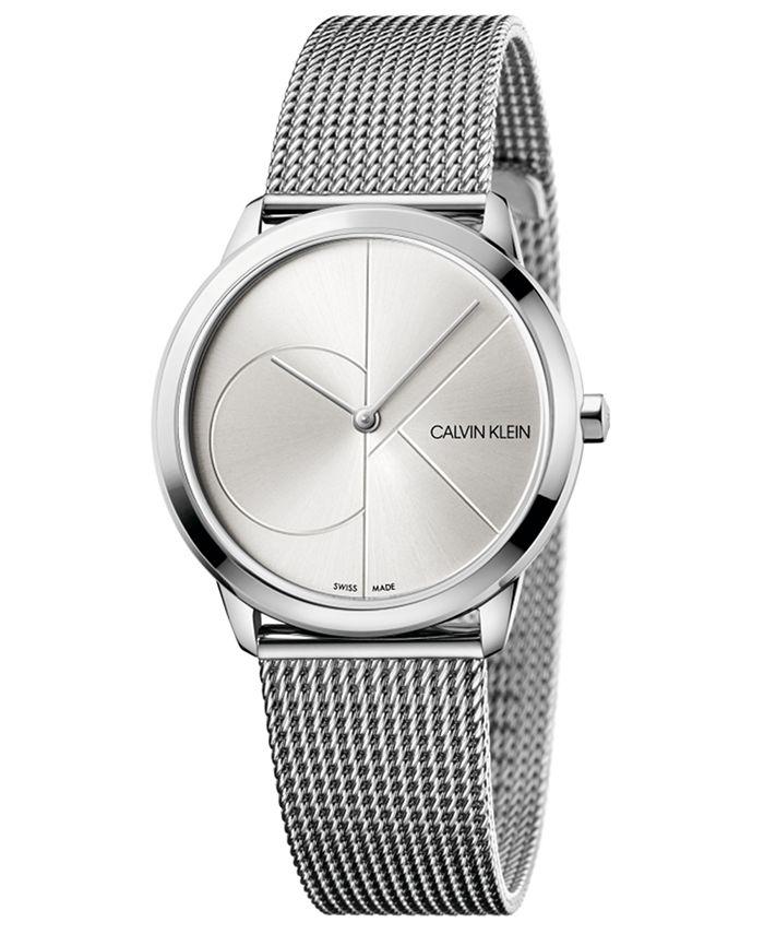 Calvin Klein - Women's Minimal Stainless Steel Mesh Bracelet Watch 35mm