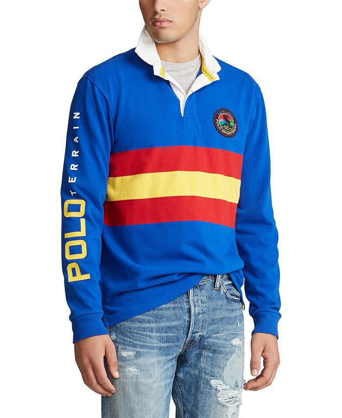 Polo Ralph Lauren Men's Long Sleeve Sportsman Rugby Classic Fit ...