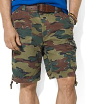Polo Ralph Lauren Big and Tall Shorts, Corporal Camo Chino Shorts