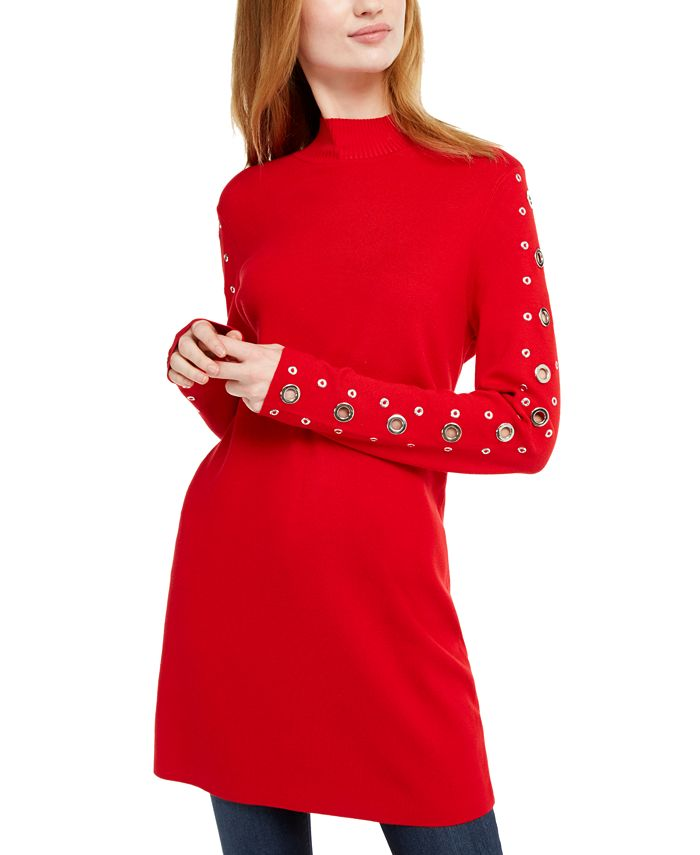 INC International Concepts - Grommet-Detail Tunic Sweater