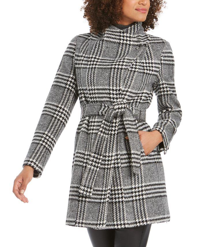 Calvin Klein - Petite Belted Toggle Wrap Coat