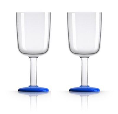 by Palm Tritan Wine Glass with Klein Blue non-slip base, Set of 2