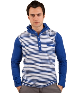 Marc Ecko Cut  Sew Shirts Stripe Printed Hooded Shirt
