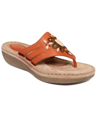 Clarks Womens Shoes Amaya Yarrow Embellished Wedge Sandals Womens Shoes