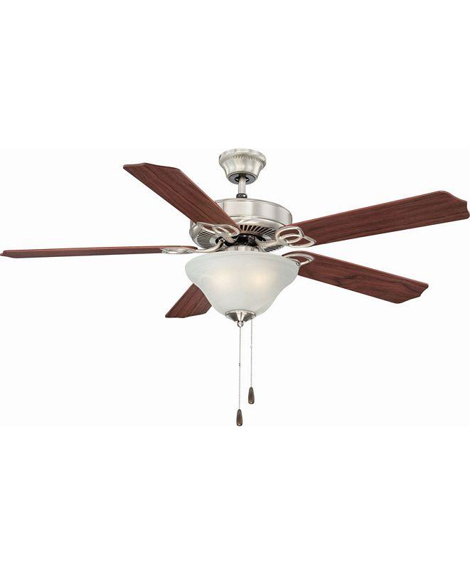 Volume Lighting Marti 3-Light Nickel Ceiling Fan