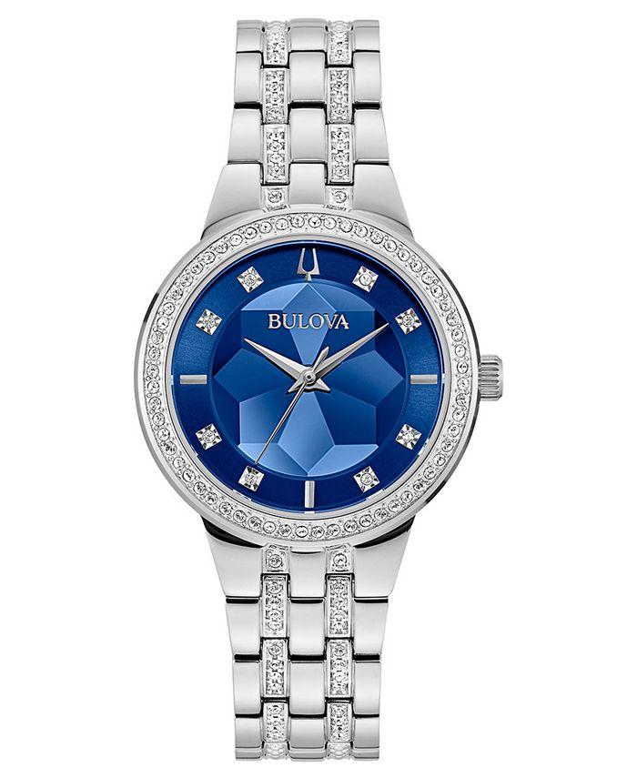 Bulova - Women's Phantom Stainless Steel & Crystal Bracelet Watch 32.5mm