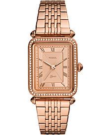 Fossil Women's Lyric Rose Gold-Tone Stainless Steel Bracelet Watch 23x28mm
