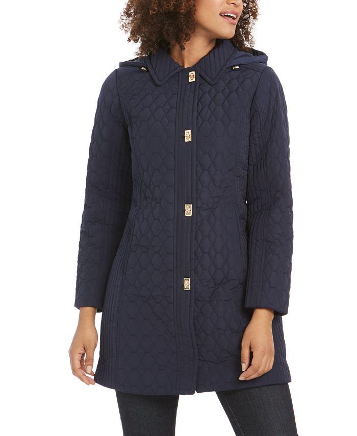 Jones New York - Petite Hooded Raincoat