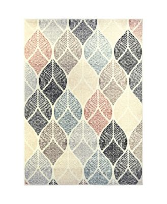 """Cresent CRE06 Ivory 5'2"""" x 7'2"""" Area Rug"""