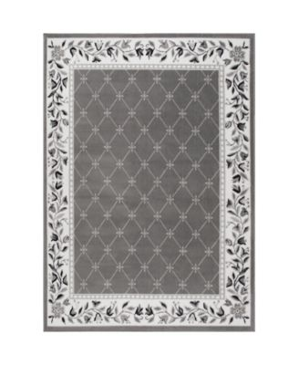 "Global Rug Design Loma LOM04 Gray 7'8"" x 10'7"" Area Rug"