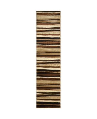 "CLOSEOUT! Global Rug Design Brighton BRI11 Brown 2'2"" x 18' Runner Area Rug"
