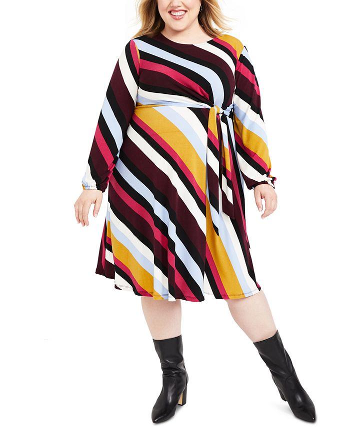Motherhood Maternity - Maternity Plus Size Belted Dress