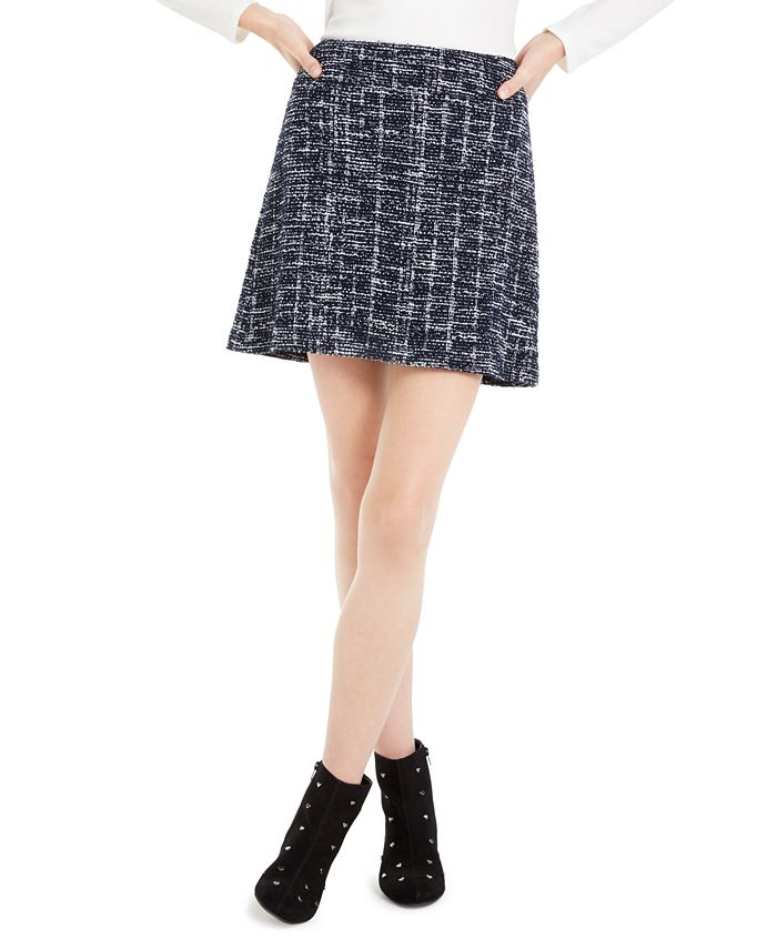 Maison Jules - Plaid A-Line Mini Skirt