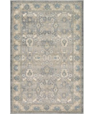 Bellmere Bel6 Gray 5' x 5' Square Area Rug