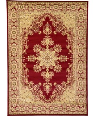 Belvoir Blv1 Red 8' x 8' Round Area Rug