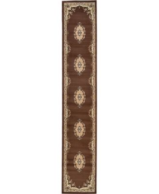 Birsu Bir1 Brown 4' x 6' Area Rug