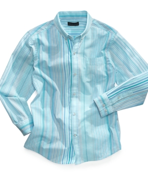Sean John Kids Shirt Boys Desert Spring Gingham Shirt