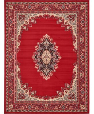 Birsu Bir1 Red 5' x 8' Area Rug