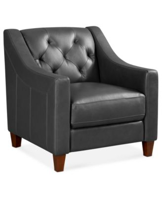 Claudia II Leather Living Room Chair