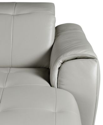 Novara Leather Reclining Sofa, 5 Piece Power Recliner Sectional (2 Power  Recliner Chairs,