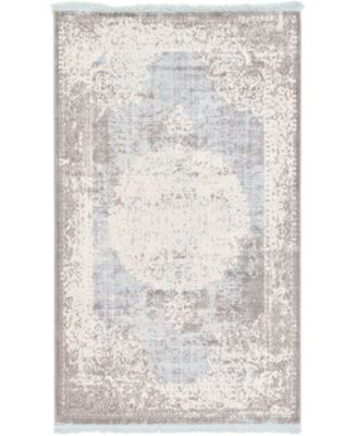 Norston Nor4 Light Blue 8' x 10' Area Rug