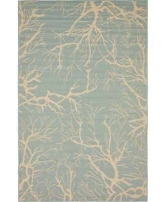Pashio Pas6 Light Blue 5' x 8' Area Rug