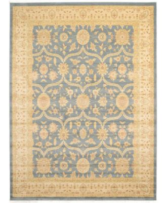 Orwyn Orw6 Blue 4' x 4' Square Area Rug