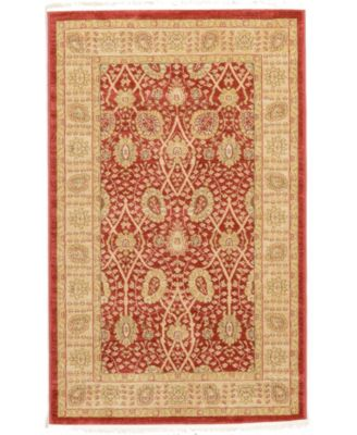 Orwyn Orw9 Red 4' x 4' Square Area Rug
