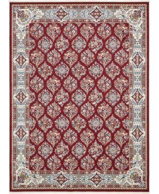 Zara Zar6 Burgundy 10' x 10' Round Area Rug