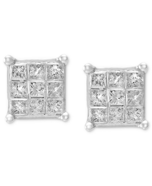 Princess-Cut Diamond Stud Earrings in 10k White Gold (1/4 ct. t.w.)