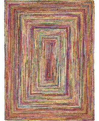 Roari Cotton Braids Rcb1 Multi 8' x 8' Square Area Rug