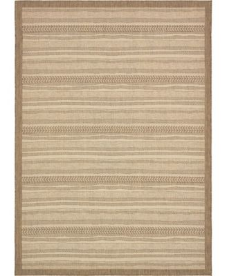 Pashio Pas4 Brown 6' x 6' Round Area Rug