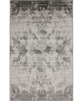 Politan Pol8 Light Gray 5' x 8' Area Rug