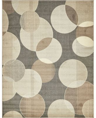 Crisanta Crs6 Gray 8' x 8' Round Area Rug