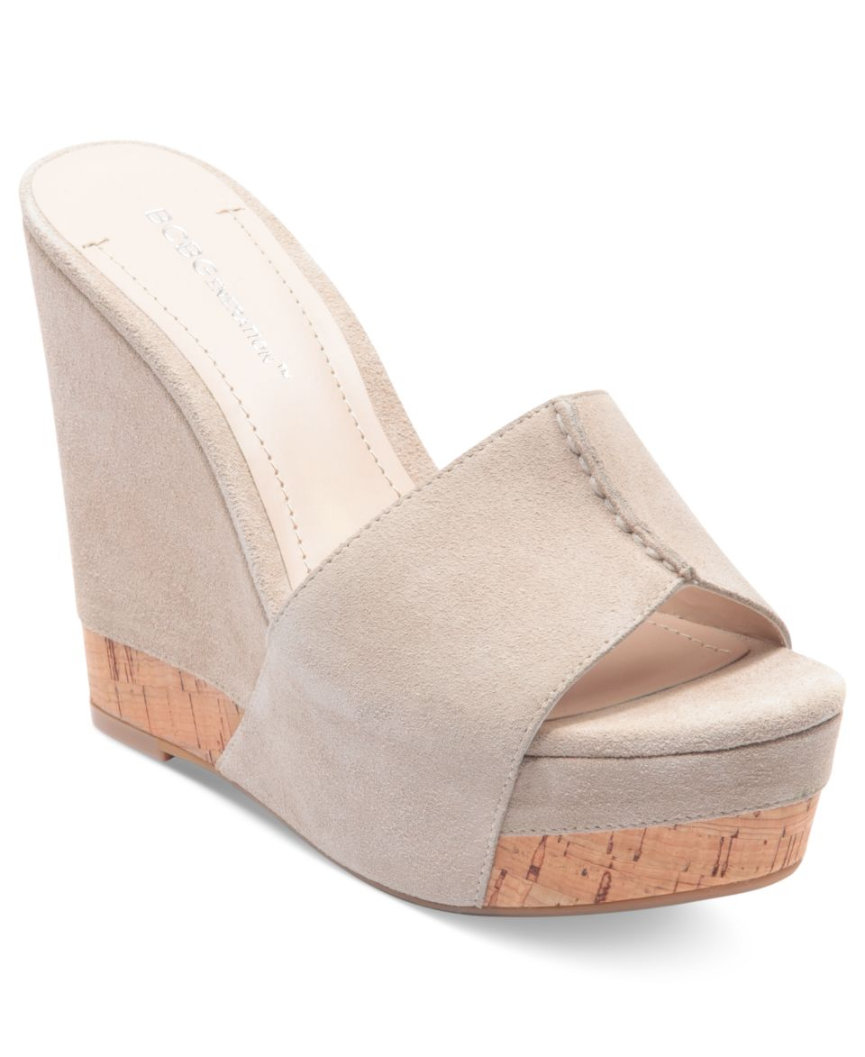 Isaac Mizrahi New York Cora Platform Wedge Slide Sandals   Shoes