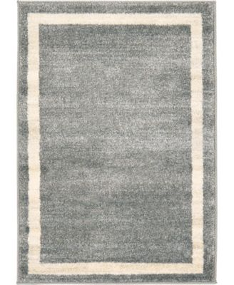 Lyon Lyo5 Gray 6' x 6' Round Area Rug
