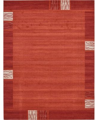 Lyon Lyo1 Rust Red 5' x 8' Area Rug
