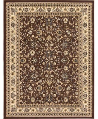 Arnav Arn1 Brown 8' x 8' Round Area Rug